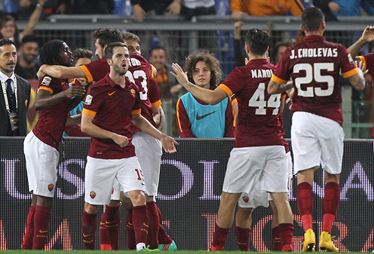 Радость Ромы после долгожданной победы